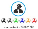 chicken manager rounded icon.... | Shutterstock .eps vector #740061688