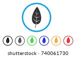 flora leaf rounded icon. style... | Shutterstock .eps vector #740061730
