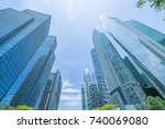 singapore city business center... | Shutterstock . vector #740069080