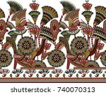 seamless traditional indian... | Shutterstock . vector #740070313