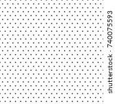 gray seamless. far dot pattern. ... | Shutterstock .eps vector #740075593