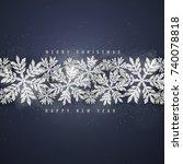christmas and new year dark... | Shutterstock .eps vector #740078818