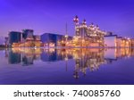 natural gas combined cycle... | Shutterstock . vector #740085760