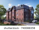 3d illustration township...   Shutterstock . vector #740088358