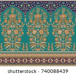 seamless traditional indian... | Shutterstock . vector #740088439