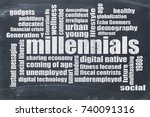 millennials generation word... | Shutterstock . vector #740091316