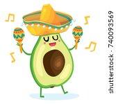 vector cartoon comic style... | Shutterstock .eps vector #740093569