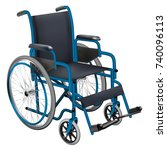 wheelchair. medicine and health.... | Shutterstock .eps vector #740096113