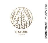 vector logo of seaweed elements.... | Shutterstock .eps vector #740099440