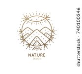vector logo of nature abstract...