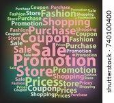 text cloud. sale wordcloud....   Shutterstock .eps vector #740100400