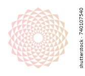 color abstract circle design...   Shutterstock . vector #740107540