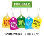 cardboard sales tags. vector... | Shutterstock .eps vector #74011279