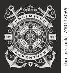 vintage unlimited adventure... | Shutterstock .eps vector #740113069