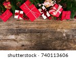 christmas gift giving concept   ... | Shutterstock . vector #740113606