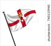 flag of northern ireland ... | Shutterstock .eps vector #740115940