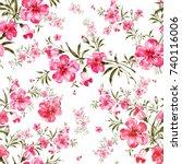 watercolor seamless pattern of...   Shutterstock . vector #740116006
