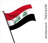iraq flag  iraq icon vector... | Shutterstock .eps vector #740116198