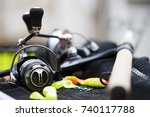 fishing tackle   fishing...   Shutterstock . vector #740117788