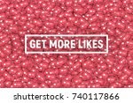 vector 3d social network... | Shutterstock .eps vector #740117866