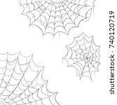halloween decorations cobwebs... | Shutterstock .eps vector #740120719