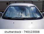 sun reflector windscreen.... | Shutterstock . vector #740123008