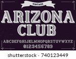 vintage font handcrafted vector ...   Shutterstock .eps vector #740123449