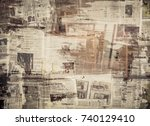 scratched paper texture  old... | Shutterstock . vector #740129410