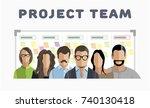 project team. employee group.... | Shutterstock .eps vector #740130418