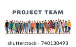 project team. employee group.... | Shutterstock .eps vector #740130493