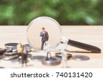 miniature people   magnifying... | Shutterstock . vector #740131420
