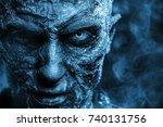 Close Up Portrait Of A Zombie...