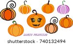 cute magic pumpkins. for your... | Shutterstock .eps vector #740132494