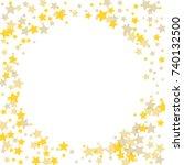golden scattered chaotically... | Shutterstock .eps vector #740132500