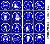 Vector Blue Warning Signs