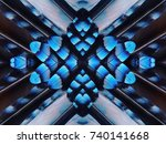 abstract symmetric pattern of...