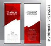 roll up business brochure flyer ... | Shutterstock .eps vector #740142118