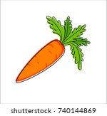 carrot on white background | Shutterstock .eps vector #740144869