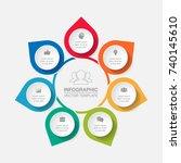 vector infographic template for ... | Shutterstock .eps vector #740145610