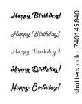 happy birthday vintage hand... | Shutterstock .eps vector #740149840