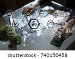 iot  automation  industry 4.0.... | Shutterstock . vector #740150458