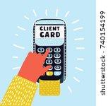 vector cartoon illustration of...   Shutterstock .eps vector #740154199
