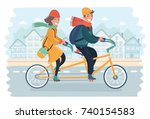 vector cartoon illustration of... | Shutterstock .eps vector #740154583