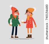 cool flat vector character... | Shutterstock .eps vector #740156680