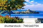 scenic lake bolsena  lago di...   Shutterstock . vector #740160754