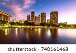 downtown los angeles... | Shutterstock . vector #740161468