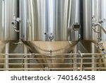 equipment for beer production ... | Shutterstock . vector #740162458