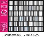 vector set of silver gradients  ... | Shutterstock .eps vector #740167693