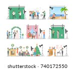 in the photostudio set of... | Shutterstock .eps vector #740172550