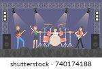 people at rock concert....   Shutterstock .eps vector #740174188